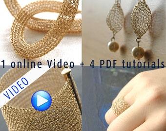 Jewelry making PDF pattern combo , jewelry crochet pattern , Crochet with wire PDF pattern , Wire crochet pattern ebook combo , wire pattern