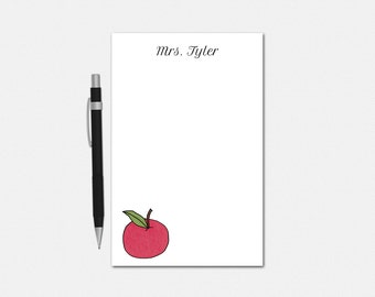 Personalized Notepad - An Apple For Teacher - Teacher Gifts - Teacher Stationery - Apple Gifts - Apple Notepad - Custom Notepad
