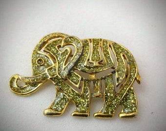 Brooch / pin - Lucky Elephant - Vintage good luck :)