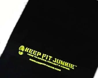 Keep Fit Junkie's Branded Embroidered Exercise Towel, Fitness Towel, Gym Towel, Sports Towel 50 x 30 cm