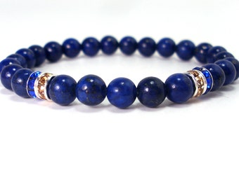Lapis Lazuli Womans Bracelet, Womens Bracelet, Gemstones Bracelet, Bracelet for Women, Gift for Women, Natural Gemstones Bracelet + Gift Box