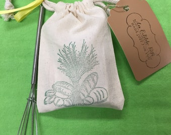Dip Mix, Favors in gift pouch with gift tag