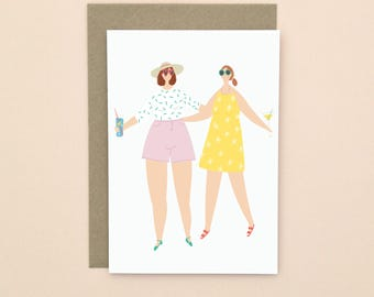 Summer Party Illustrated Greetings Card