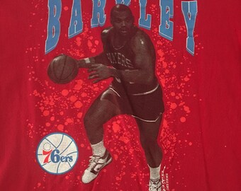 Vintage 90s Charles Barkley 76ers Sixers Basketball Starter Tshirt - Vintage Sixers Tshirt - Vintage Tshirt - XL