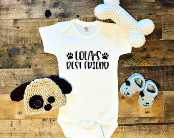 Dog's Best Friend / Baby Bodysuit / Baby Boy / Baby Girl / Baby Clothes / Baby Gift / Baby Shower / Dogs / Paws / Man's Best Friend