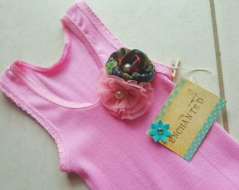 Handmade revamped pink girls dress