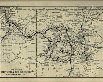 Poster, Many Sizes Available; 1901 Poor'S Denver And Rio Grande Railroad