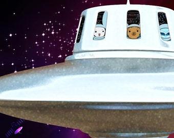 Spaceship Peek-A-Boo