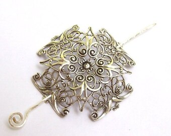 Celtic Cross Shawl Pin, Celtic Cross Scarf Pin, silver shawl pin, pagan, sweater pin, fall fashion, silver scarf pin