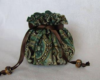 Travel Pouch - Medium Size - Drawstring Jewelry Bag - Jewelry Tote - RAZZLE DAZZLE