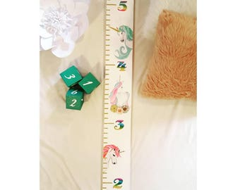 One Of A Kind Custom Detailed Hand Painted Growth Chart, Painted Room Decor, Unique Art, Oversized Ruler, Kid's Decor, Baby shower Gift