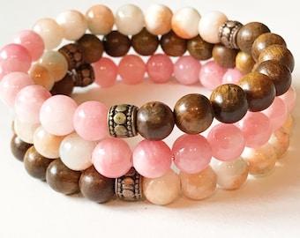 Stackable, Morning Sky Essential Oil Diffuser Bracelet/ Yoga Bracelet