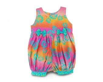 Baby Girl Romper, Handmade Birthday Gift, Boho Baby Romper, Batik Romper Gift, Toddler Jumpsuit Boho