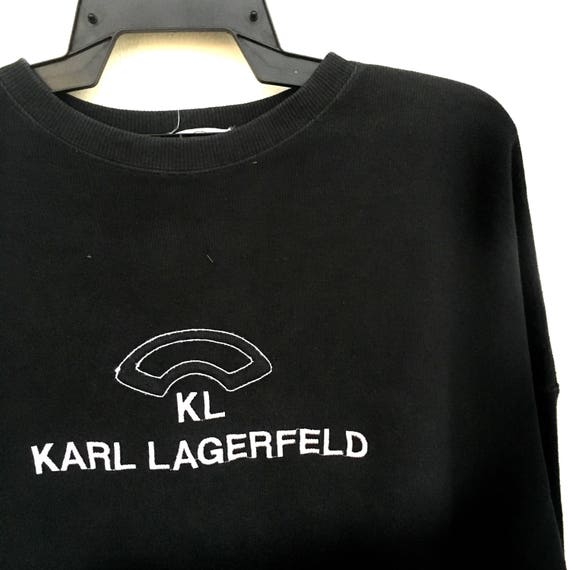 Sweatshirt Size Vintage KARL Crewneck Item Rare Vintage XL LAGERFELD 90s Sweatshirt xYqCxZ
