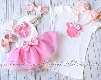 Mommy and Me Minnie Mouse set, Birthday tutu dress