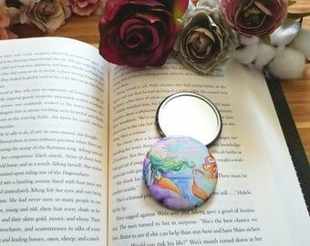 Mermaid Sunset Pocket Mirror