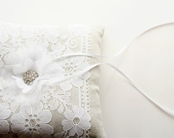 Lace Ring Pillow, Ring Bearer Pillow, Ring Cushion, Bridal Pillow
