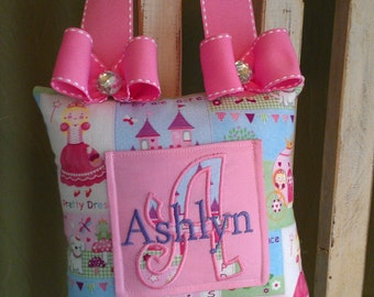 Princess with Bows Tooth Fairy Pillow