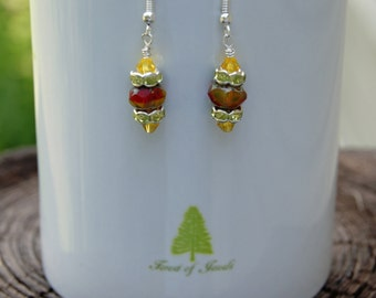 Sunny Sky Czech Glass Earrings