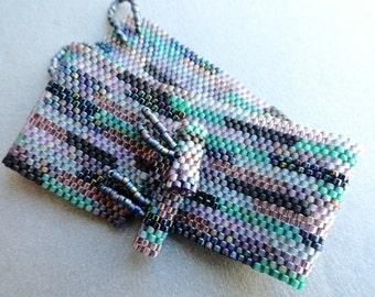 Unlisted - Cuff Bracelet - Woven Bracelet - Peyote Stitch Cuff - Bead Soup Jewelry