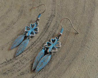 Earring Blue Patina with DQ