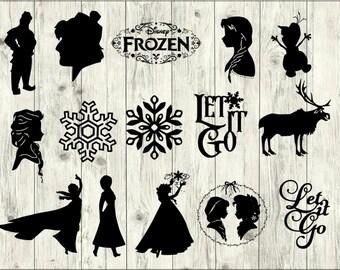 Frozen SVG Bundle, Disney SVG bundle, Disney cut file, Disney clipart, Disney svg files for silhouette, files for cricut, svg, dxf, eps, png