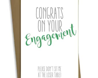 FP0476 Funny Engagement Wedding Card Anniversary Marriage Greeting Card Congratulations