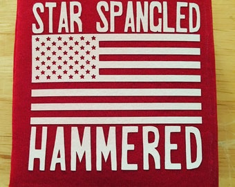 Star Spangled Hammered Can Cooler