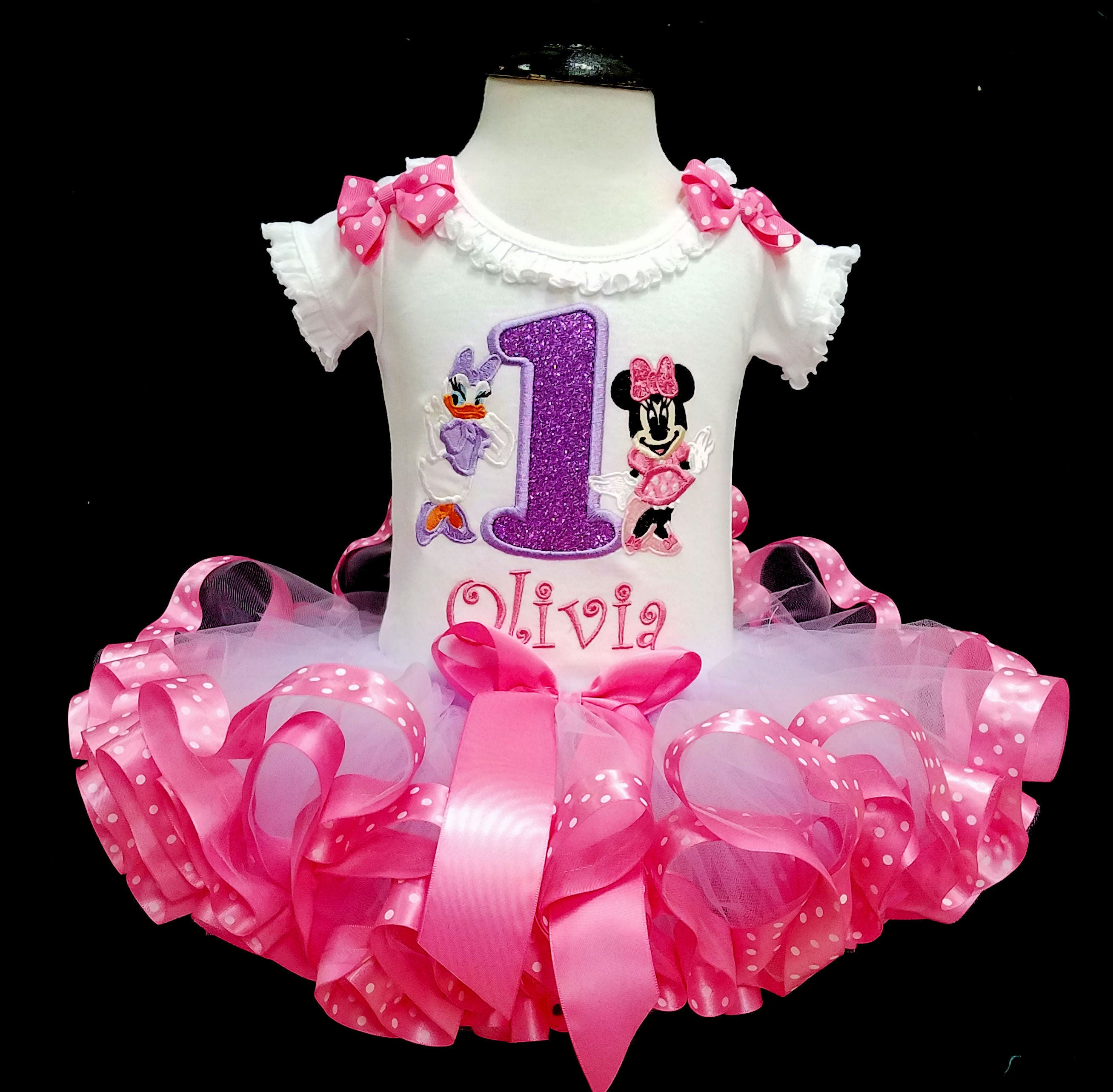 minnie mouse birthday outfit 1st birthday tutu outfit minnie mouse 1st birthday outfit daisy duck minnie & unicorn birthday outfit 1st birthday unicorn birthday tutu outfit ...