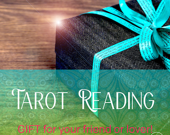 Digital greeting card with tarot reading gift, fast shipping, fast gift