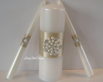 Elegant Unity Candles, Wedding Candles, Wedding Ceremony, Unity Candles Set, Traditional Unity Ceremony, Custom Made