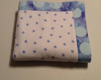 Baby/Receiving Blanket, Blue Dots and Stars