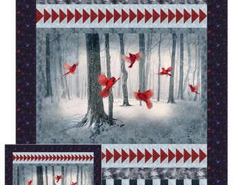 Winter Cardinals Quilt Pattern by Diane McGregor