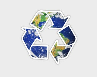 """Save The Earth Recycle Bumper Sticker Decal 4"""""""