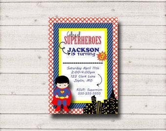 Superman Birthday Invitation - Printable Inv002Superman