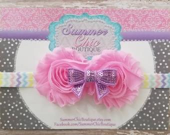 Easter Headband, Baby Headband, Infant Headband, Newborn Headband, Toddler Headband, Pink Easter Headband, Easter Headband, Pastel Headband