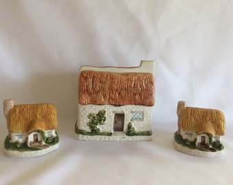 Vintage Country Cottage Ware | Napkin Holder, Salt and Pepper Shakers |  Kitchen Accessory