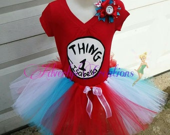 Thing 1 and 2 tutu outfit