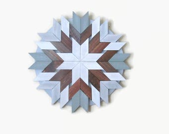 "Wood Art, 26"", Wood Starburst, Boho Nursery, Wood Circle, Cottage Chic, Geometric Wood, Distressed Wood, Beach Wood, Farmhouse Wall, Rustic"