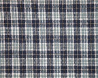 Homespun Material | Small Plaid Material | Cotton Material | Primitive Material | Rag Quilt Material | Home Decor Material | 1 Yard