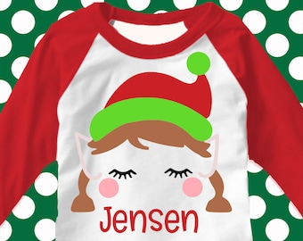 Christmas svg, Girl Elf svg, elf svg, elves svg, girls Christmas shirt, svg, png, eps, DXF, girls svg, Cut File, shortsandlemons, cute