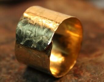Hammered Brass Ring