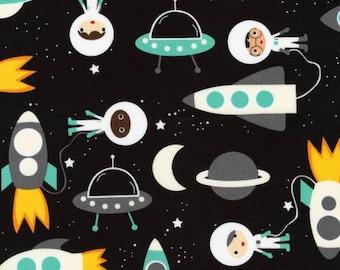 Robert Kaufman fabric SPACE EXPLORERS on Black
