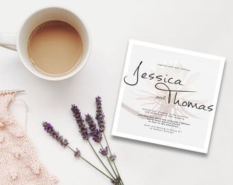 Dusty Pink | Botanica Beauty Collection | Printable Wedding Invite