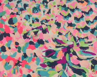 "multi pina colada club dobby cotton fabric square 18""x18"" ~ lilly fall 2017 ~ lilly pulitzer"