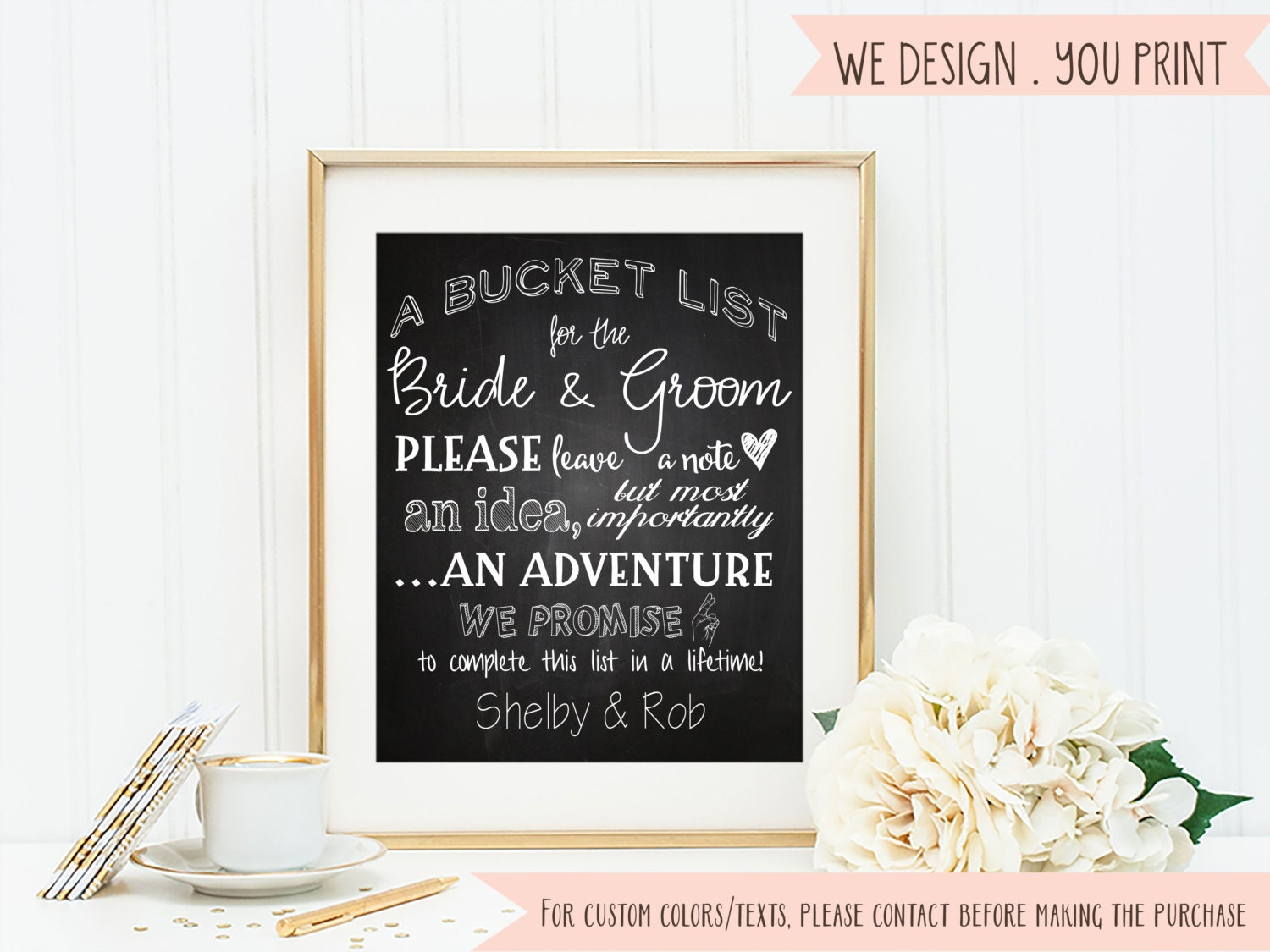 Bucket list sign wedding wish sign printable sign suggestions zoom junglespirit Image collections