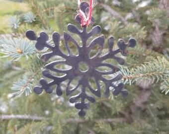 Raw Metal Snowflake Ornament-Christmas Ornament-Christmas Decor-Home Decor-Winter Decor-DIY Project-Gift-Winter Wedding