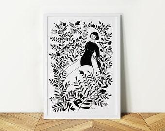 Garden 02 Girl (A4)