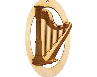 Harp Ornament - Musician Christmas Ornament - Harp Christmas Ornaments - Musician Gifts - Harp Ornaments - Personalized Free