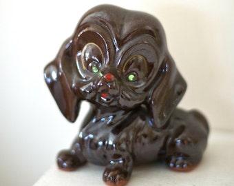 Vintage Dachshund Figurine   Ceramic Made in Japan